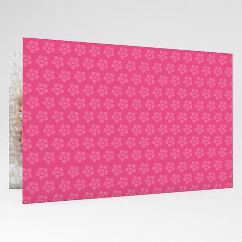 Faire-Part Naissance Fille - Imprimé fleuri rose 17768 thumb