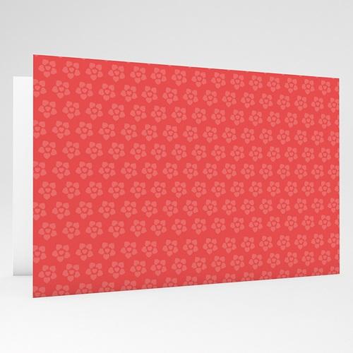 Faire-Part Naissance Fille - Imprimé fleuri rouge 17769 thumb