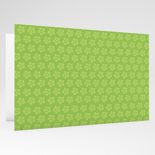 Faire-Part Naissance Garçon - Imprimé fleuri vert 17770 thumb