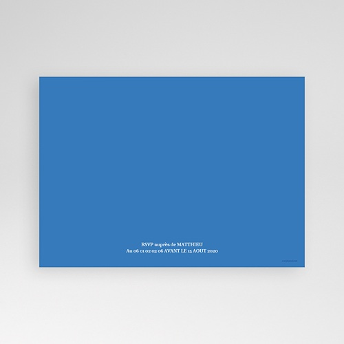 Invitation Anniversaire Adulte - Ombre bleue 1779 thumb