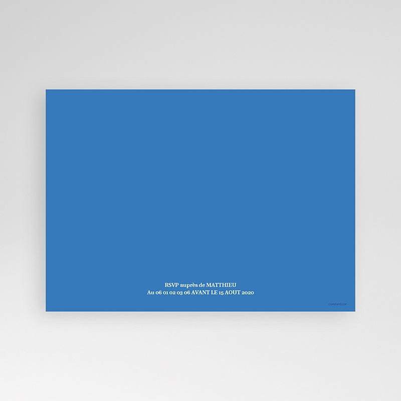 Carte Invitation Anniversaire Adulte Ombre bleue pas cher