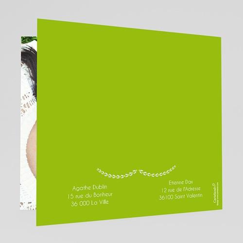 Faire-part mariage vert Carte Mariage Photo - Anis gratuit