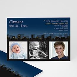 Carte invitation anniversaire adulte Années Lumière