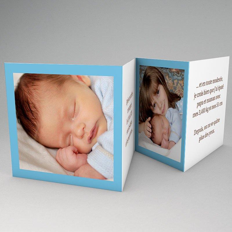 faire part naissance gar on ma carte bleue de b b. Black Bedroom Furniture Sets. Home Design Ideas