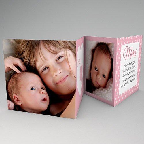 Carte Remerciement Naissance Fille Ma Naissance - Rose gratuit