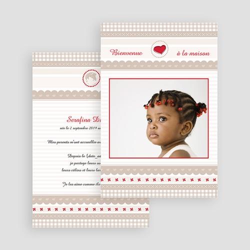 Faire-part adoption fille L'Amour grandissant gratuit
