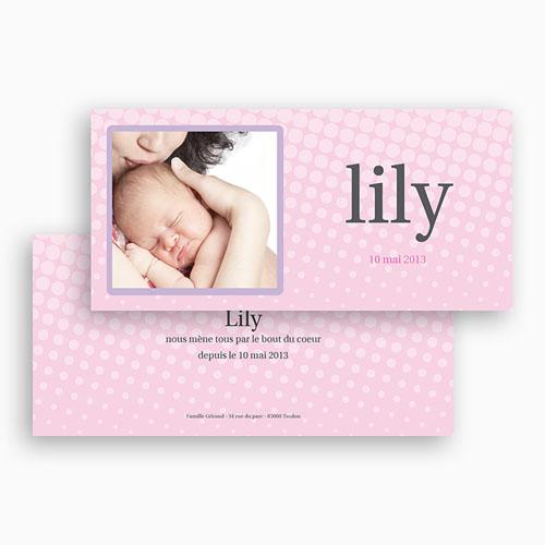 Faire-Part Naissance Fille - Lily Rose 18132 thumb