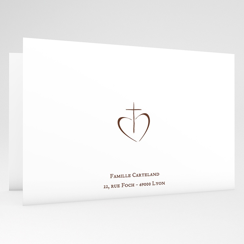 Invitation Confirmation  - Communion Fond Blanc 18176 thumb