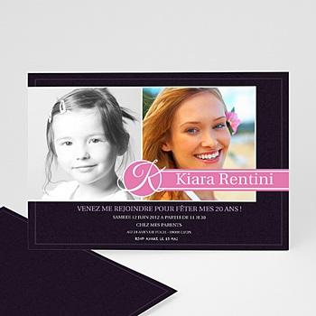 Invitation Anniversaire Adulte - Du bouton à la fleur - 3