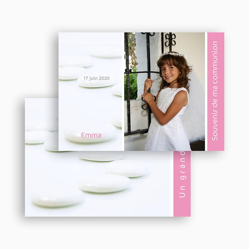 Carte remerciement communion fille Dragées de remerciements gratuit