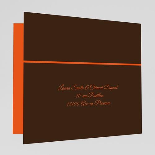 Faire-part mariage orange Mariage en Automne gratuit