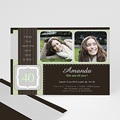 Invitation Anniversaire Adulte - Menthe Chocolat 1824 thumb