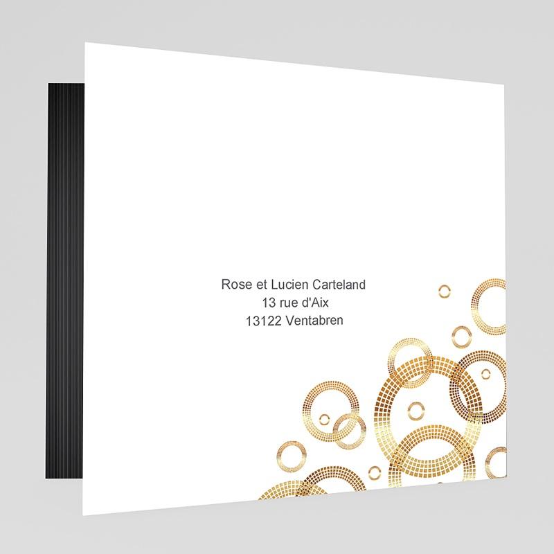 Carte invitation anniversaire mariage Noces de Platine - 70 ans gratuit