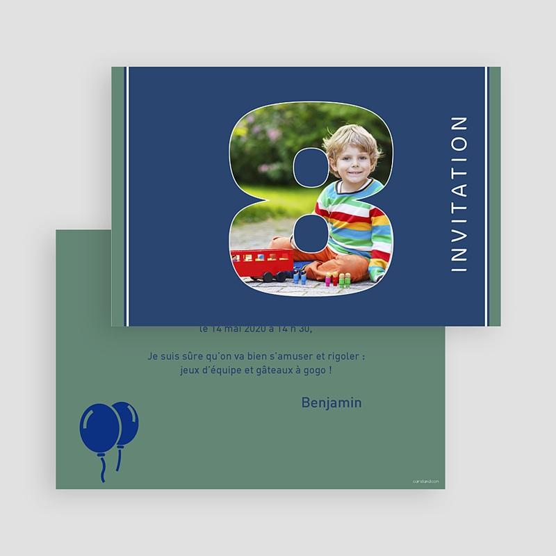 Carte invitation anniversaire garçon 8 ans fille et garçon gratuit