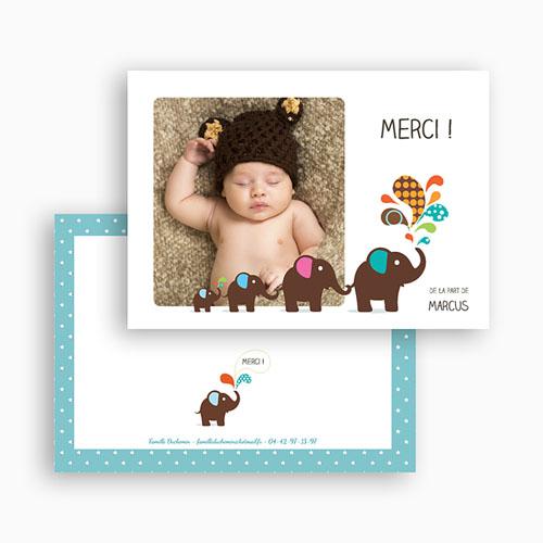Carte remerciement naissance garçon Marcus  gratuit