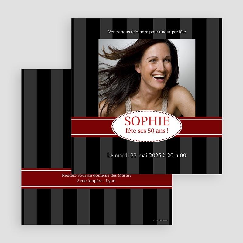 Carte Invitation Anniversaire Adulte Simplement stupéfiant gratuit