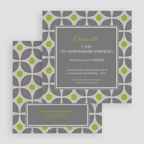 Invitation Anniversaire Adulte - Restau chic 18531 preview
