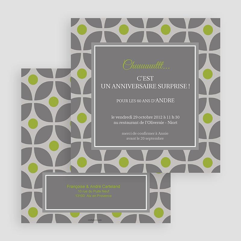 Invitation Anniversaire Adulte - Restau chic 18531 thumb