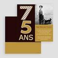 Carte Invitation Anniversaire Adulte 75 ans - Or et Chocolat gratuit