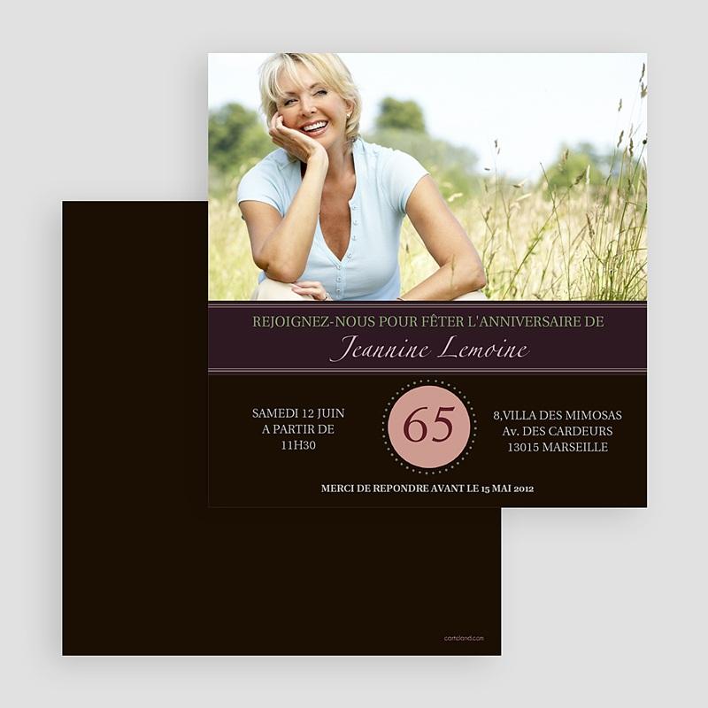 Carte Invitation Anniversaire Adulte Fête Somptueuse gratuit