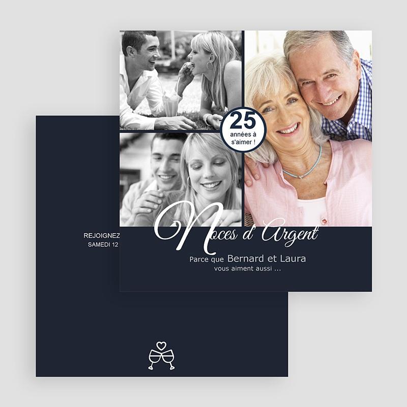 Carte Invitation Anniversaire Mariage Evénement élégant gratuit