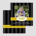 Carte Invitation Anniversaire Adulte Ebène doré gratuit