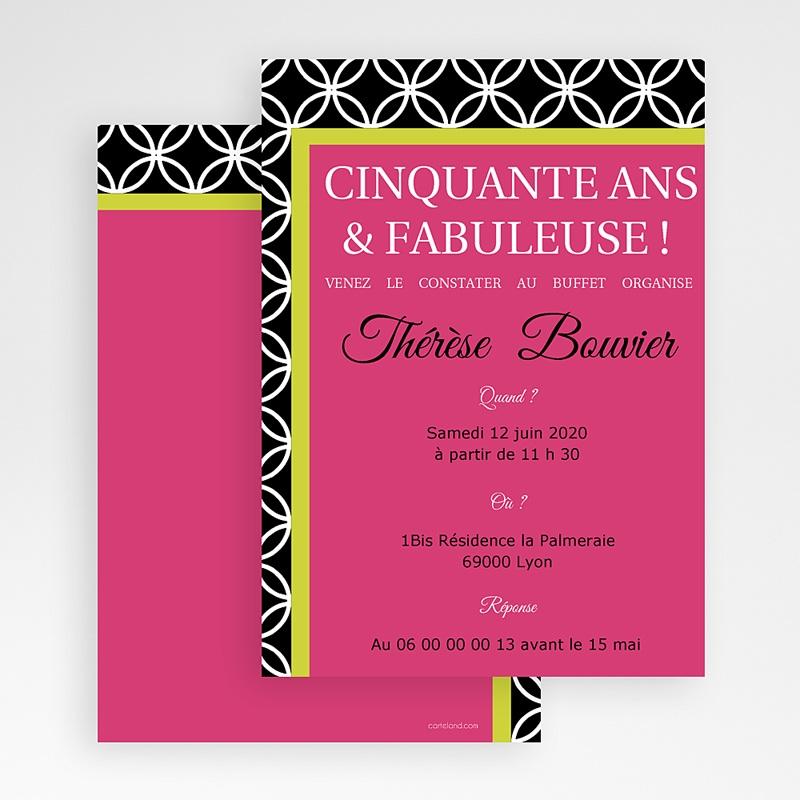 Carte invitation anniversaire adulte Simplement merveilleuse gratuit