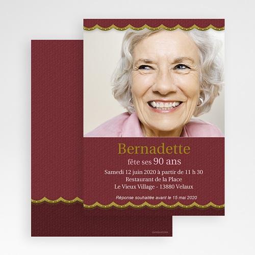 Invitation Anniversaire Adulte - Or et vieux rose 18583 preview