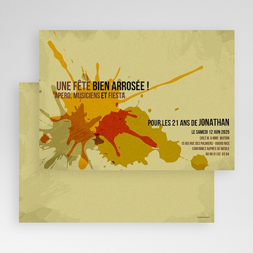 Carte Invitation Anniversaire Adulte Ca s'arrose ! gratuit
