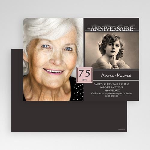 Carte invitation anniversaire adulte Souvenirs marquants gratuit