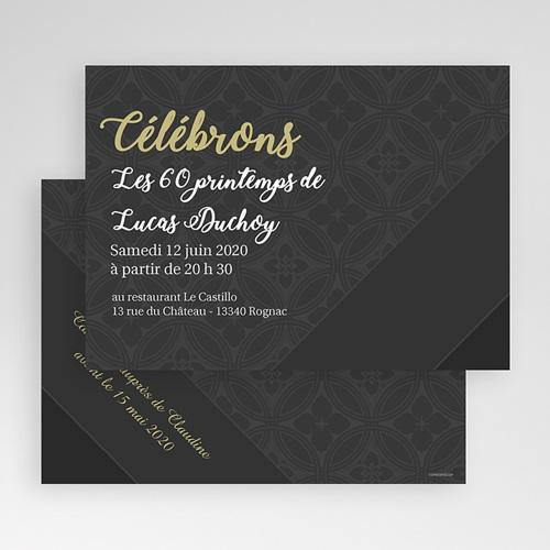 Carte Invitation Anniversaire Adulte Déroulement de la célébration gratuit