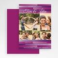 Carte Remerciements Pacs - A rayures violettes 18669 thumb