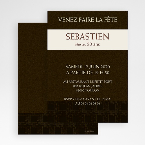 Invitation Anniversaire Adulte - Tabac 18676 thumb