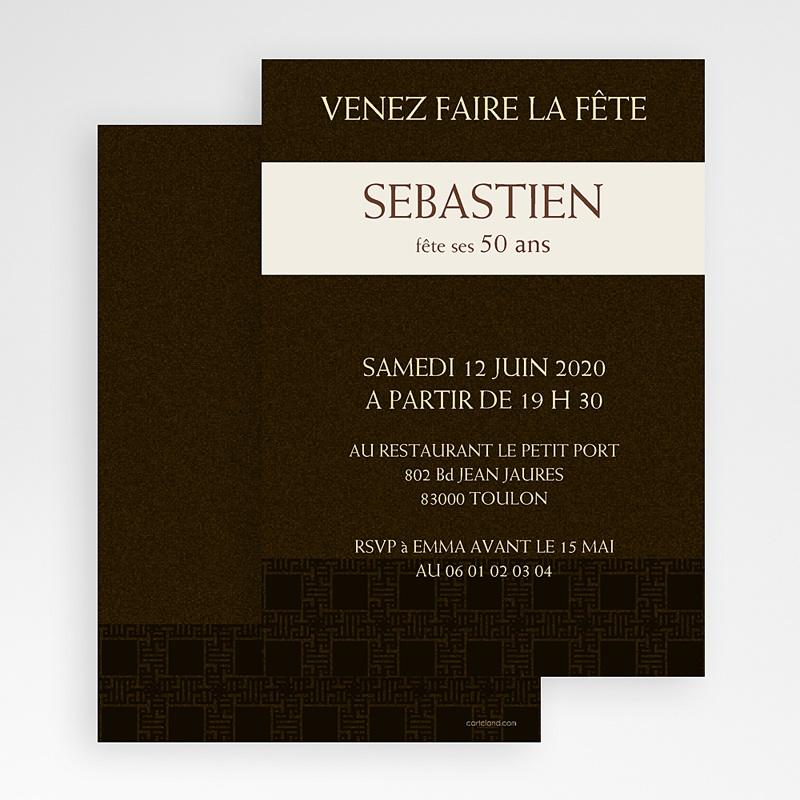 Carte invitation anniversaire adulte Tabac gratuit