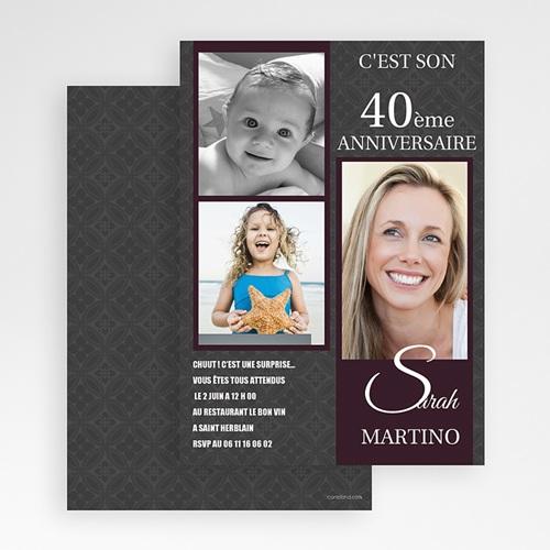 Carte Invitation Anniversaire Adulte Star du Jour gratuit