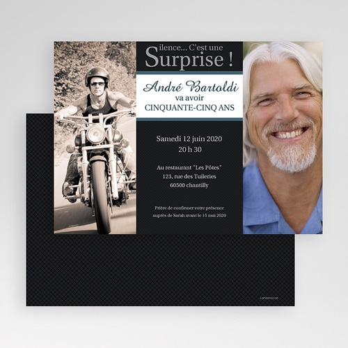 Invitation anniversaire adulte super surprise - Invitation anniversaire surprise ...
