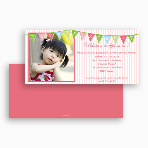 Invitations Anniversaire Fille - Décoration 18764 thumb