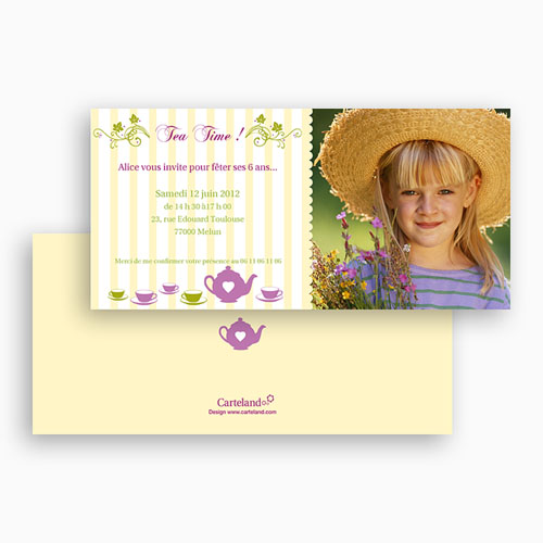 Invitations Anniversaire Garçon - Brunch ou Tea Party 18767 preview