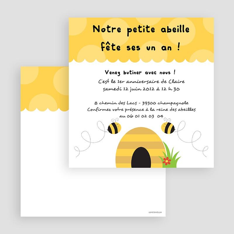 Invitation Anniversaire Garçon - Abeille 18773 thumb