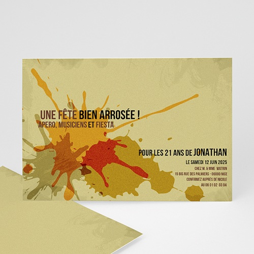 Carte Invitation Anniversaire Adulte Ca s'arrose !