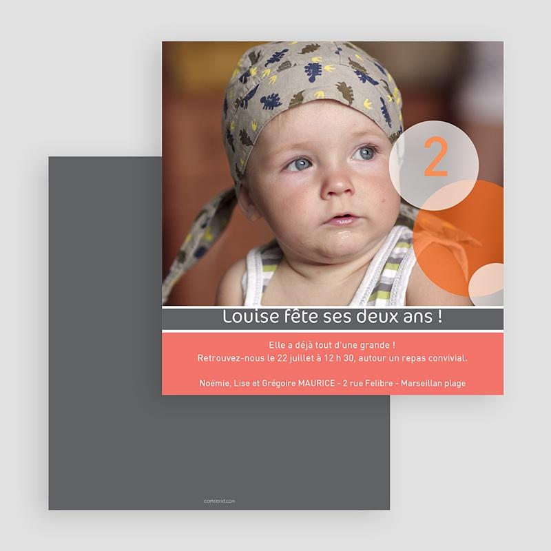 Carte invitation anniversaire fille Dites Wistiti gratuit