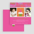 Carte invitation anniversaire fille Compte jusqu'à 2 gratuit