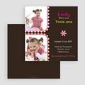 Carte invitation anniversaire fille 3 ans rose gratuit