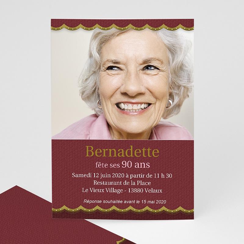 Carte Invitation Anniversaire Adulte Or et vieux rose
