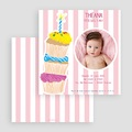 Invitations Anniversaire Fille - 3 bougies et 3 muffins 18905 thumb