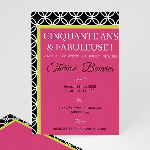 Carte invitation anniversaire adulte Simplement merveilleuse