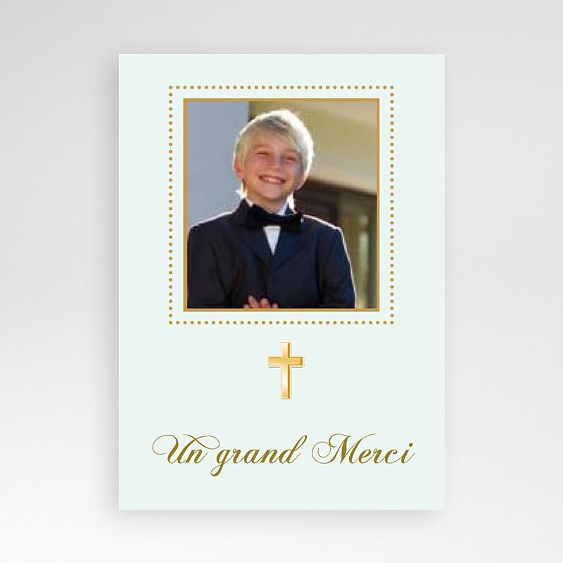 Carte remerciement communion garçon Classique - Justin
