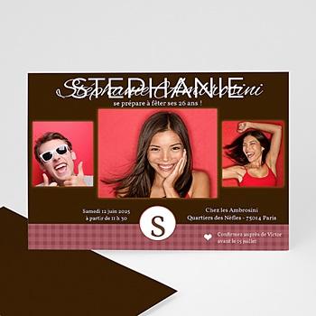 Invitation Anniversaire Adulte - Fraise et Chocolat - 3