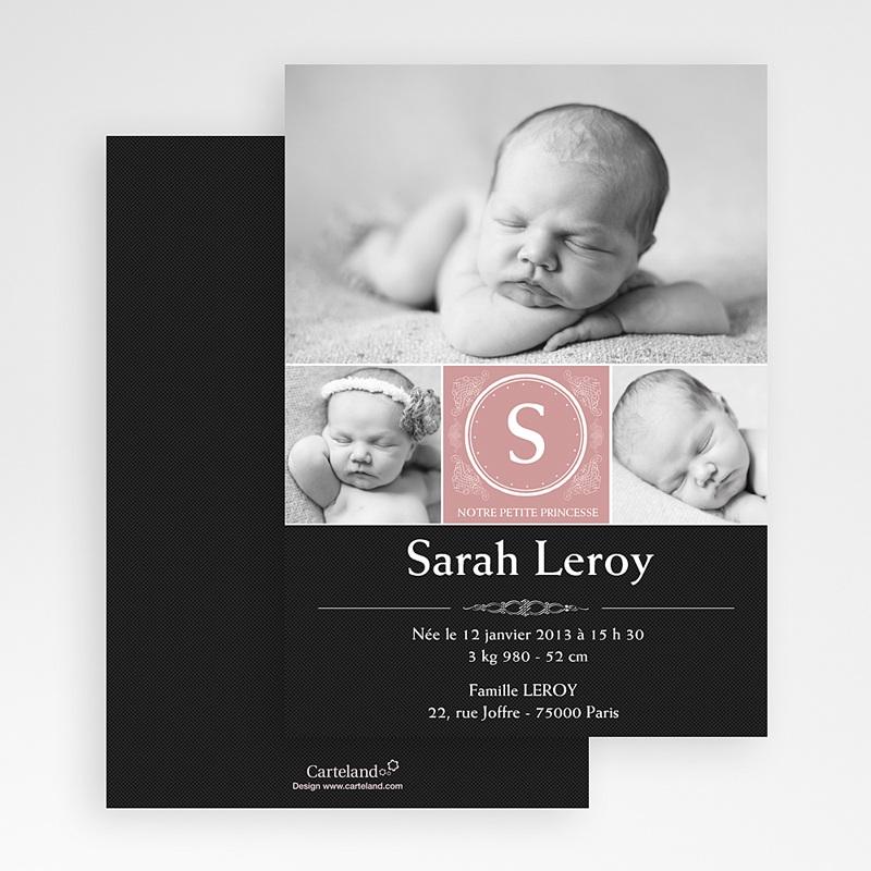 Faire-part naissance fille Tiny Princess gratuit