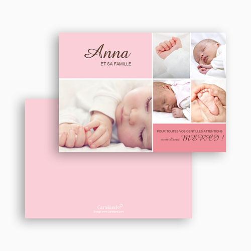Carte Remerciement Naissance Fille Anna gratuit